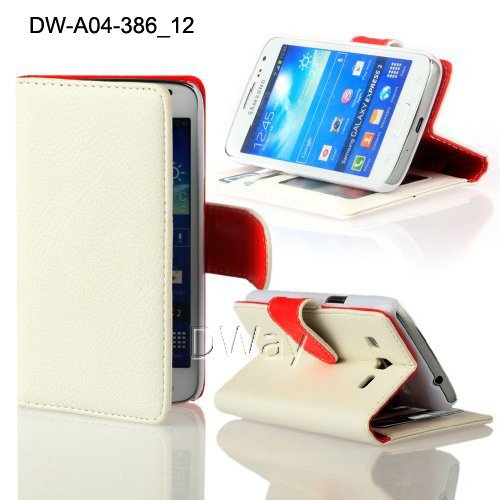 New Stylish G3815 Case With Card Holder Stand Book Wallet Pouch PU Leather Flip 30PCS/Lots Case For Samsung Galaxy Express II 2