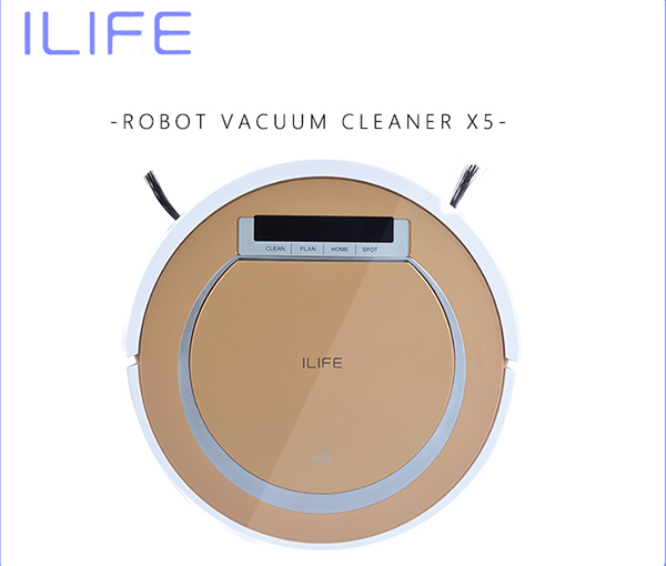 Robotic Vacuum Cleaner ILIFE X5 Sweeping Machine vaccum floor cleaner Wet&Dry Clean,Self Charge(China (Mainland))
