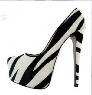 Free Shipping Women Pumps High Heel Party Dress Zapatos Mujer Brand Designer Office Ladies Shoes zebra printed high heels(China (Mainland))