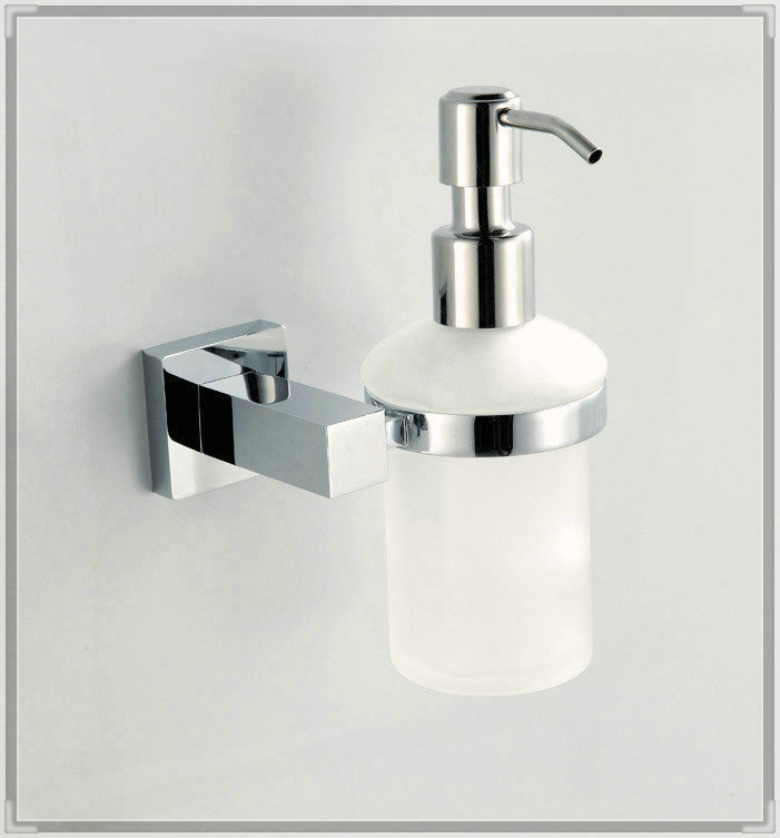 copper chrome soap dispenser holder, liquid soap dispenser, bathroom fittings CB011K waterfall wall faucet tap bathroom(China (Mainland))