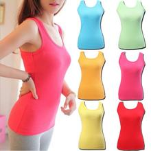 2015 Hot sale ! New Ladies Multicolor  Sleeveless Bodycon Temperament Cotton Tank Top Women Vest Tops(China (Mainland))