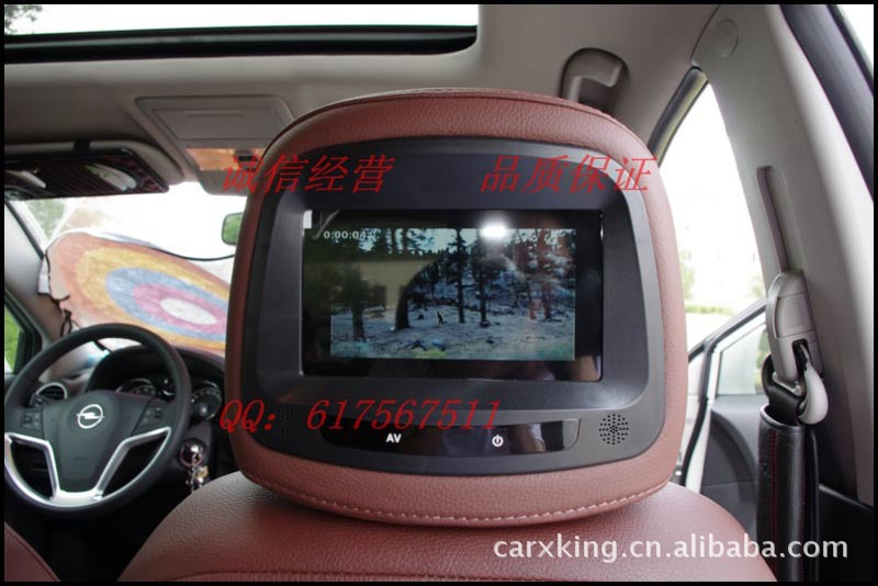 Opel Andhra special headrest monitor / car monitor Headrest DVD 18 months replacement(China (Mainland))