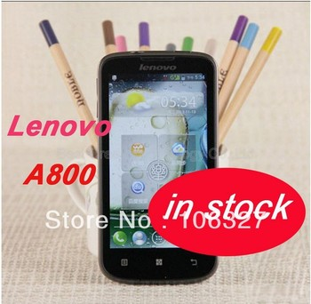 Free shipping Lenovo A800 phone MTK6577 dual-core Android 4.0 smartphone 4GB ROM GPS in stock russian language / Eva