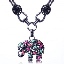 2014 New Fashion Hot Selling Resin Pendant Necklace & Elephant  Vintage Jewlery  Wholesale Price XL5591
