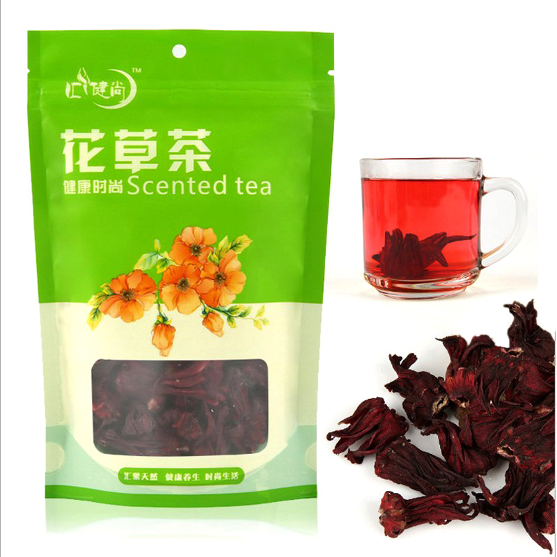 Promotion! health care Hibiscus tea Roselle tea natural flower scented tea fit detox tea free shipping(China (Mainland))