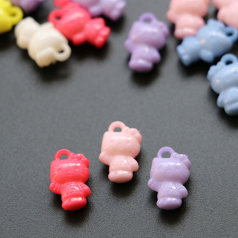<50 PCS/LOT> Mini kitty style charm for baby shower gift party decoration diy craft accessories(China (Mainland))
