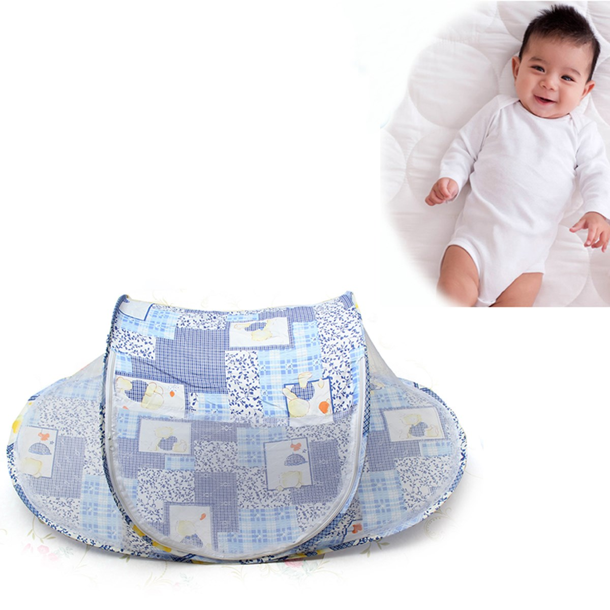 New Portable Foldable Baby Mosquito Tent Bed Cute Kids Travel Infant Instant Crib Netting Multi-Function Nursery Bedding Sets(China (Mainland))