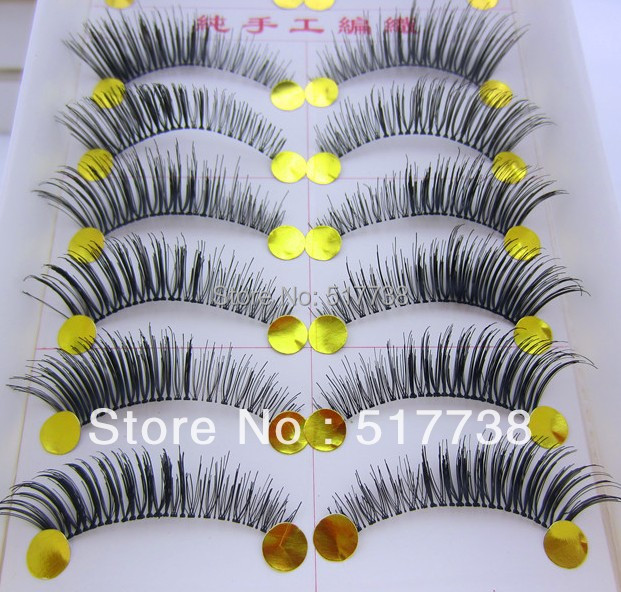 Free Shipping 10Pair/Lot Thick False Eyelashes Mink Eyelash Lashes Voluminous Makeup #005 Tail Winged(China (Mainland))