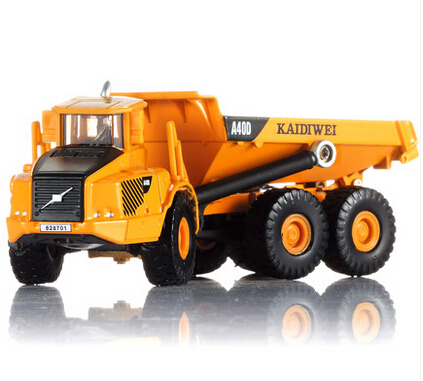 Alloy Diecast dump Truck Model 1:87 Miniature Engineering Truck Articulated Loading and unloading vehicle Collection gift KDW(China (Mainland))