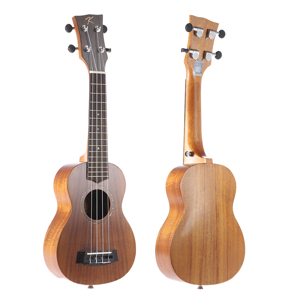 "KAKA KUS-70 21"" Solid Koa Top Side Ukulele 4 Strings Green Shell Inlay Rosewood Fretboard with Gig Bag Musical Instrument Gift(China (Mainland))"