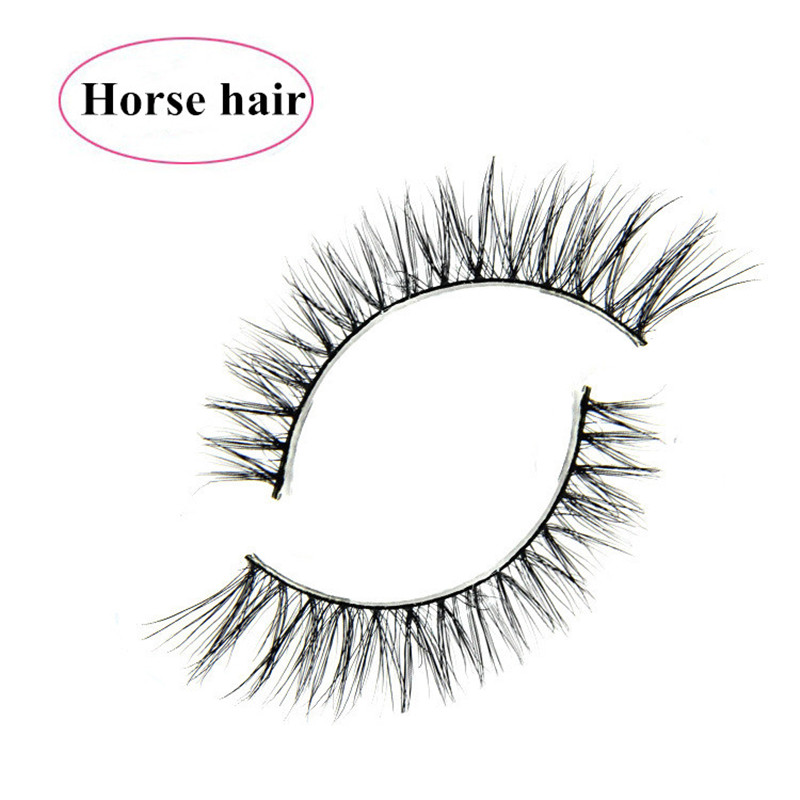 3D eyelashes extensions horse hair lash natural cotton terrier multi-layers super soft pony hair false eyelashes 10 pairs/lot<br><br>Aliexpress