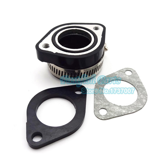 Carb intake adapter boot rubber pipe flange gasket vm