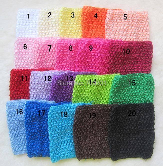 "9"" Crochet Tutu top tutu Headband 20 colors Instock Baby Pink Headbands Free Shipping(China (Mainland))"