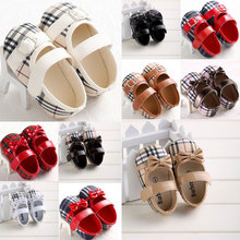 Fashion HOT Gentle Gingham Buckle Shallow Girl Anti-slip classic leisure soft sole infant Toddler prewalker 0-18 months(China (Mainland))
