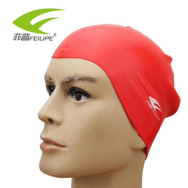 FEIUPE CAP501 Free size Waterproof Silicone Protect Ears Long Hair Pool Swimming Cap Hat Women Men Adults Water Sports(China (Mainland))