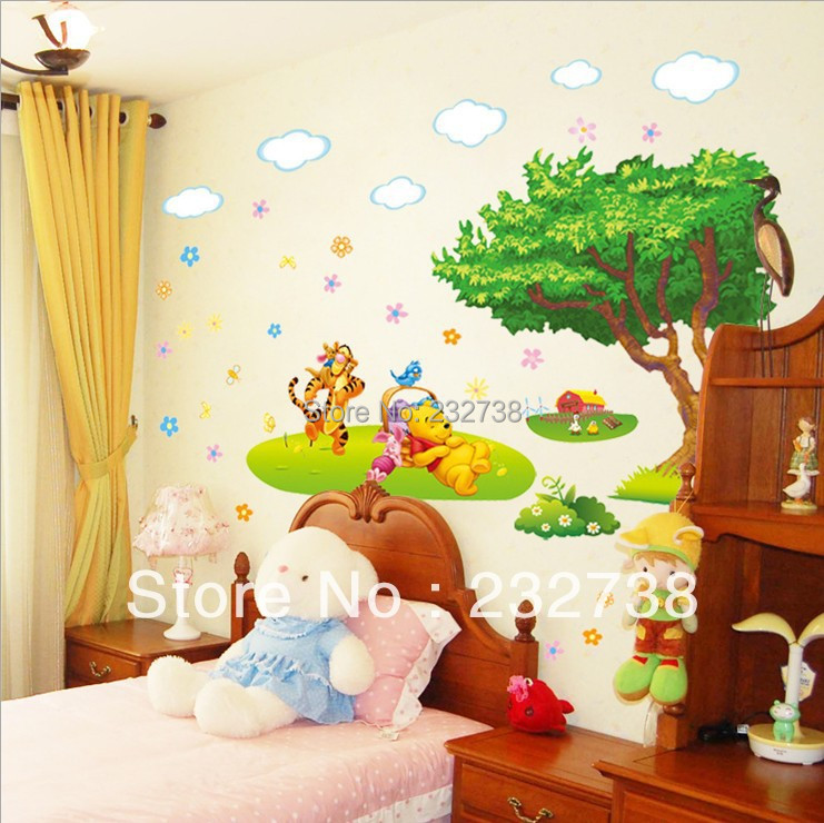 3d wall sticker cartoon animal kids room wall stickers for Stickers 3d pared