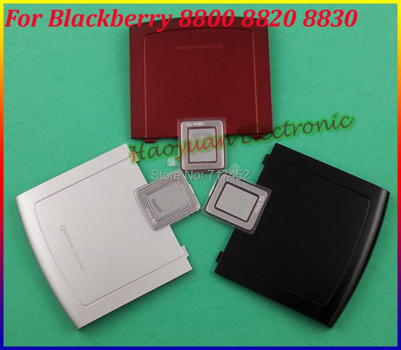 Silver/Black/Red New Original Back Battery Cover Case Housing Door For Blackberry 8800 8820 8830 Free Shipping(China (Mainland))