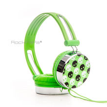 Rockpapa Over Head Skull Boys Kids Girls Children Teens Adult DJ Headphones Headsets Earphones for iPhone iPad iPod Tablet PC