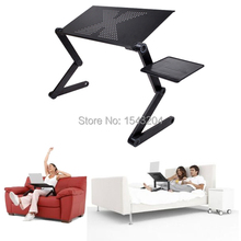 Portable Adjustable Foldable Laptop Notebook PC Desk Table Vented Stand Bed Tray Free Shipping(China (Mainland))