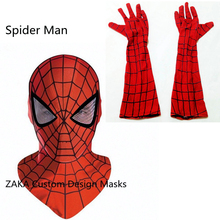 Spider Man Mask Accessories spiderman Gloves masks cosplay mascaras halloween party Dark Avengers Carnaval Costume kids adults
