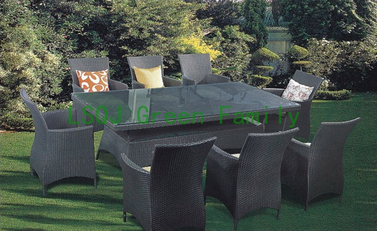 M1158outdoor rattan dining furniture set,dining table and chair,10 sets batch,the wholesale price(China (Mainland))