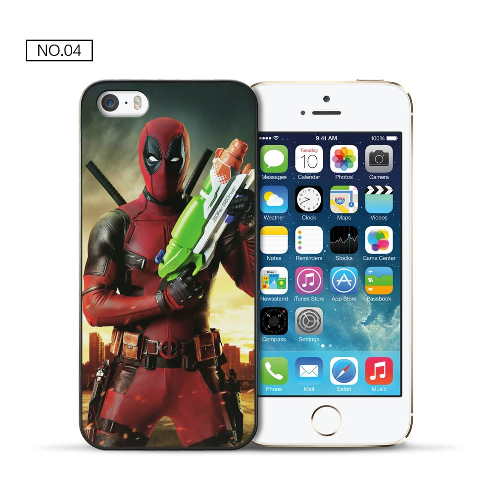 For Apple iPhone 5 5S 6 6S case Deadpool PC cover for coque iPhone 5 5S 6 6S case 2016 new arrivals for fundas iPhone 5S 6S case