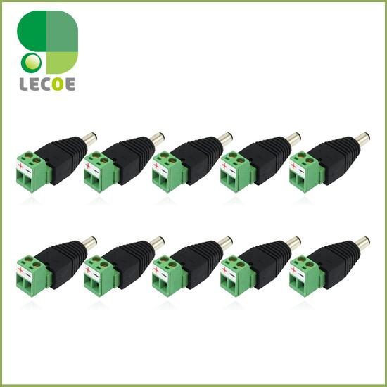 10pcs/lot DC Power Male Jack Plug Connector 5.5/2.1mm For CCTV Cameras<br><br>Aliexpress