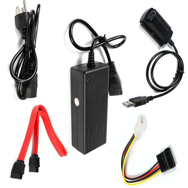 USB 2.0 to IDE SATA S-ATA 2.5 3.5 Hard Drive HD HDD Converter Adapter Onfine Leo(China (Mainland))