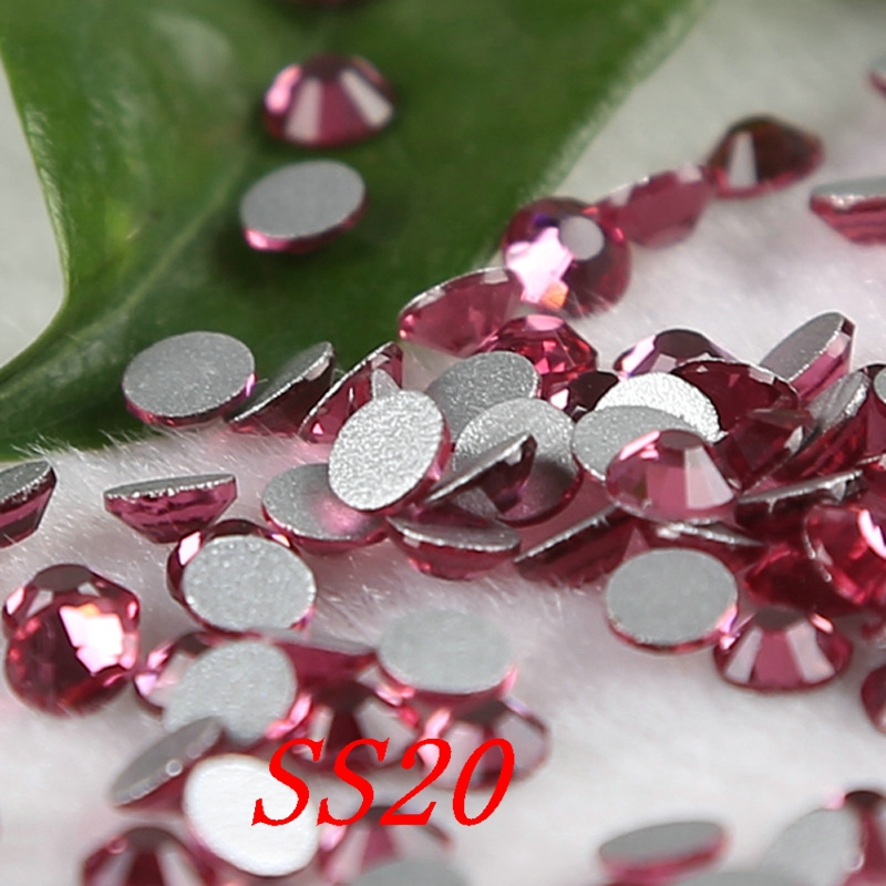 rhinestone applique strass fuchsia rhinestones SS20 1440pcs/lot nail art ,garment ,shoes accessaries(China (Mainland))