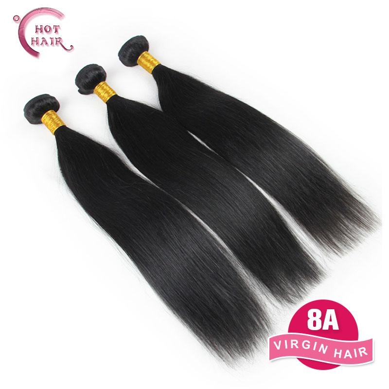 Brazilian Virgin Hair Straight 3 pcs 8A Cheap Human hair Weave Hot Hair Products Unprocessed Virgin Brazilian Straight Hair(China (Mainland))