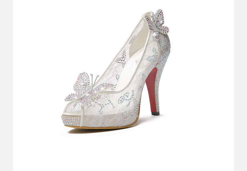 2015 newest cinderella shoes for prom
