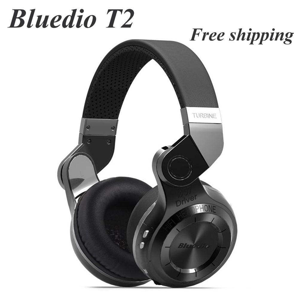 100% D'origine Mode Bluedio T2 Turbo Sans Fil Bluetooth 4.1 Stéréo Casque antibruit Casque avec Micro Haute Qualité Basse(China (Mainland))