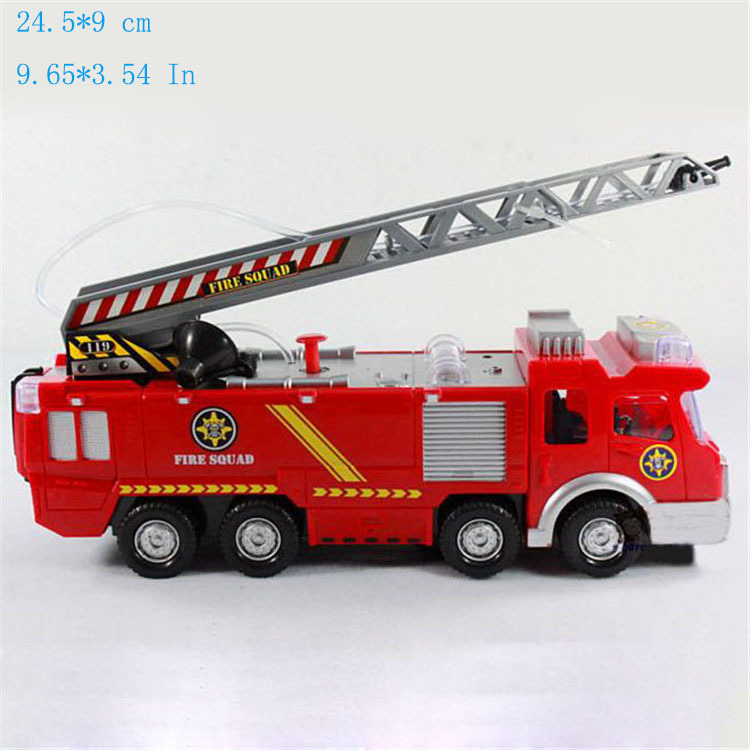 Juguetes Fireman Sam Kids Toys Fire Truck Car With Music Led For Children Boy Toy Fire Truck Educational Water Spray Toy FD052(China (Mainland))