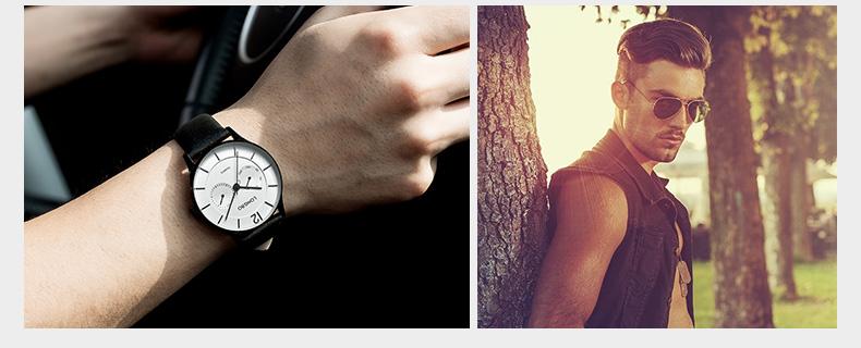 LONGBO Роскошные Мужчины Натуральная Кожа Часы Спортивные Кварцевые Часы Для Мужчин Мужской Досуг Часы Простые Часы Relogio Masculino 5011