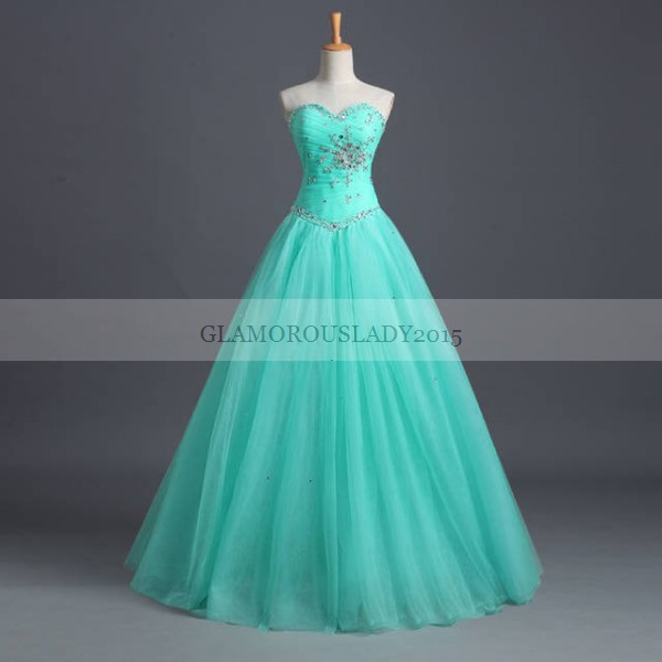 Cheap Mint Green Quinceanera Dresses Ball Gowns 2015 Real-Picture Sleeveless Sweetheart Girl Formal Party Vestidos Sweeth 16 - glamorous lady2015 store