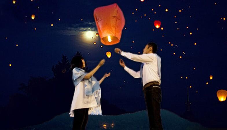 Sky Lantern Flying Wishing Lamp Birthday Party Cute Hot Air Balloon Kongming Lantern Party Favors(China (Mainland))