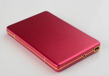 """Free shipping  portable 2.5"""" black and Red metal 80GB External hard drive disk  Russia(China (Mainland))"""