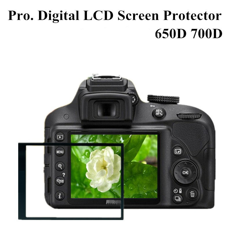 Professional Digital Camera Accessories Pro Optical Glass LCD Screen Protector Film Guard For Canon EOS 650D 700D + Tracking NO.(China (Mainland))