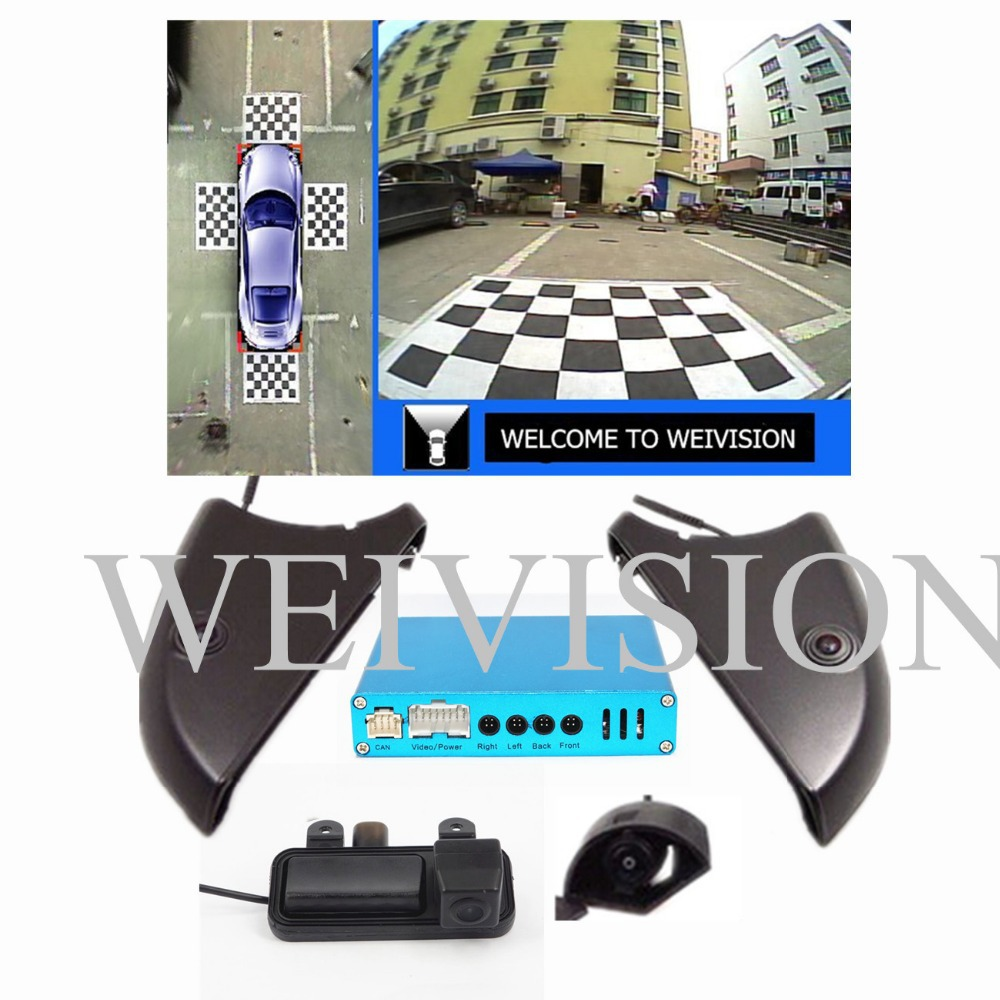 360 Degree bird View Car DVR Record with 4HD car rear backup front side camera for Benz C E grade GLK ML GL C series<br><br>Aliexpress