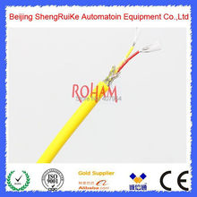 Yellow Color K Type Soft Silicone  thermocouple Cable