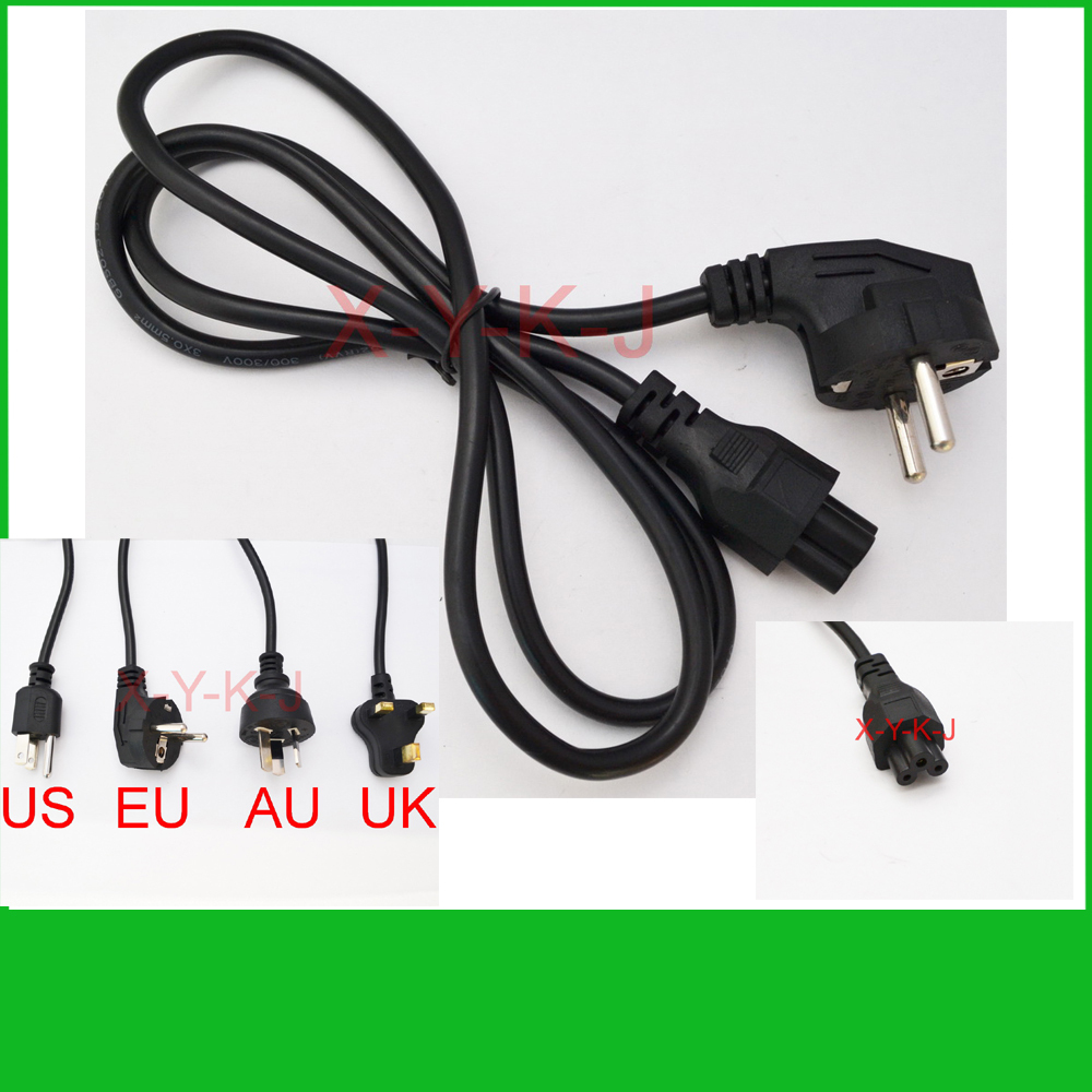 High quality1pcs Wholesale AC Power Cord cable for laptop adapter lead Adapter EU US AU UK Plug All Available+Free(China (Mainland))