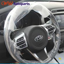 3pcs ABS Matte Chrome Steering Wheel Cover Trim Garnish Accessories for Kia Sorento 2016 (China (Mainland))