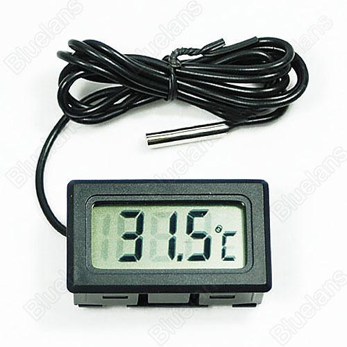New Mini Aquarium LCD Display Digital Thermometer Fish Tank Water Household Refrigerstor Thermometers 09CB(China (Mainland))