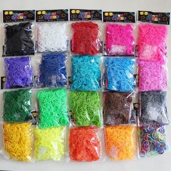 Горячая распродажа дети красочных резиновых полос для плетения браслетов дети DIY резинки для браслетов 600 шт./упак. детей подарок b29