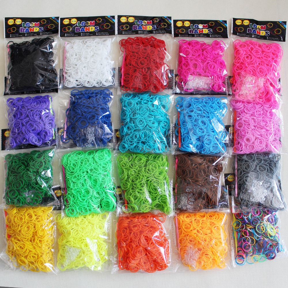 2015 Kids colorful rubber bands to weave bracelets Children DIY gum for bracelets 600pcs / pack b29(China (Mainland))