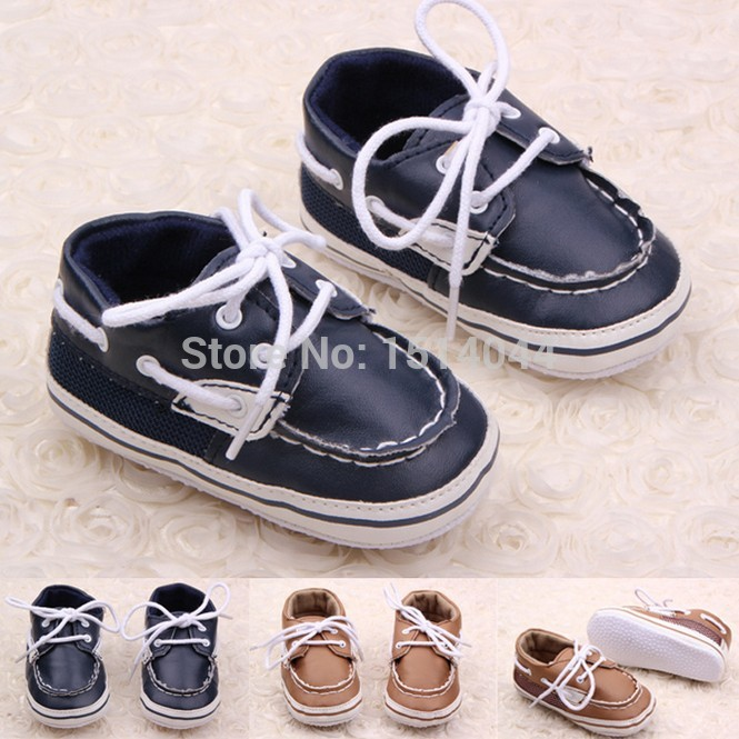 lace up brand leather baby walkers shoes boy