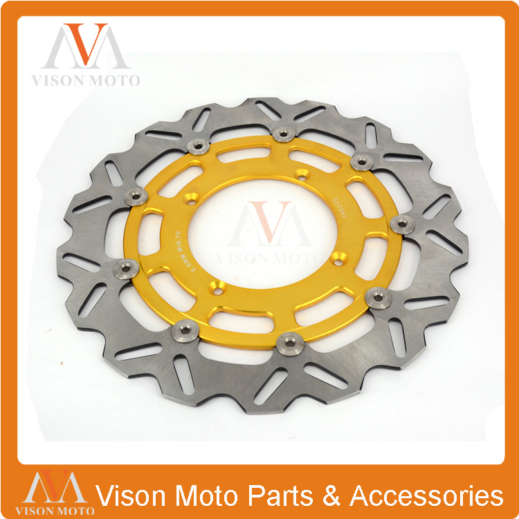320MM Front Wavy Floating Brake Disc Rotor Suzuki RMZ RMX RMZ250 07-15 RMZ450 05-15 RMX450 10-12 Supermoto Motard - VM parts store
