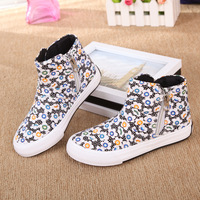 children's shoes for winter autumn boys and girls breathable canvas shoes candy-colored sneakers
