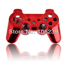Red Chrome Shell Housing Cover For PS3 Game Controller