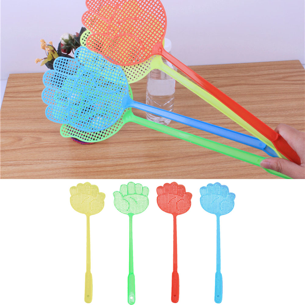 10PCS/Set Plastic Pest Control Mosquito Bug Hand Pattern Fly Swatter Flyswatter Killer Tools Pest Reject Insect Killer Swatters
